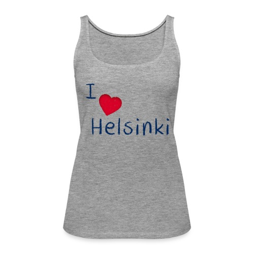 I Love Helsinki - Naisten premium hihaton toppi