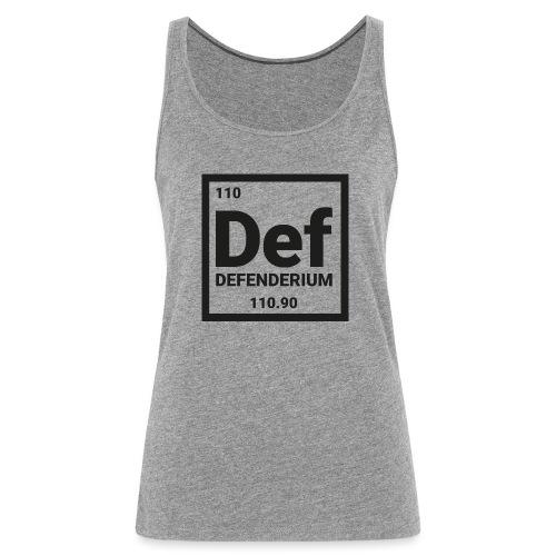 DEFENDERIUM BLACK - Vrouwen Premium tank top
