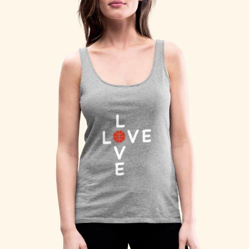 LOVE Cross basketball red 001 - Frauen Premium Tank Top