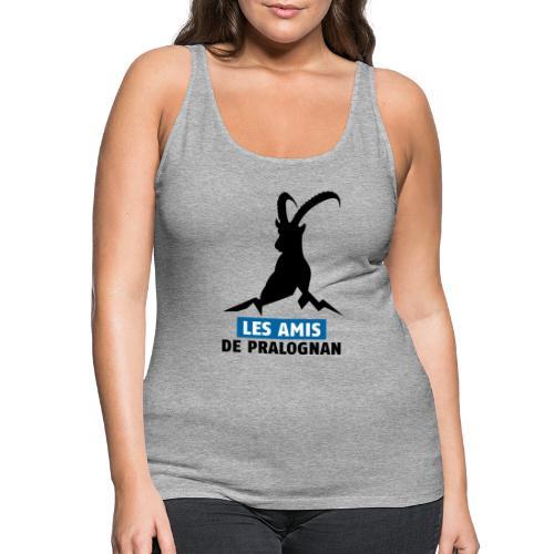 Logo Les Amis de Pralo grand noir - Débardeur Premium Femme