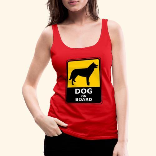 cartel perro - Camiseta de tirantes premium mujer