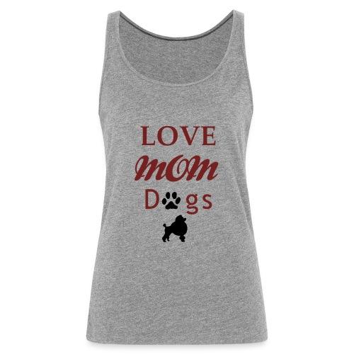 Mama Liebe Hunde Chiwawa transparent modi - Frauen Premium Tank Top
