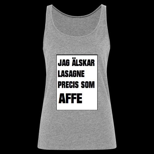 Affe älskar lasagne - Premiumtanktopp dam