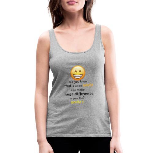 SMILE - Canotta premium da donna