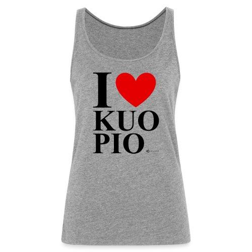 I LOVE KUOPIO ORIGINAL (musta) - Naisten premium hihaton toppi