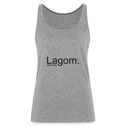 Lagom Pictures Logo Dark - Women's Premium Tank Top