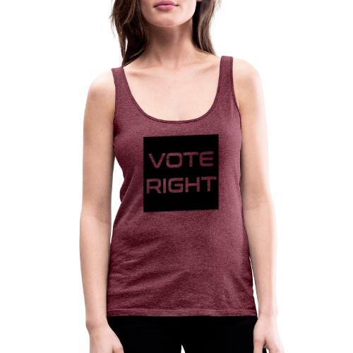 vote right - Frauen Premium Tank Top
