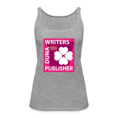 Duna Writers Publisher Pink - Premium singlet for kvinner