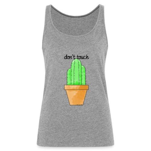 cactus letra - Camiseta de tirantes premium mujer