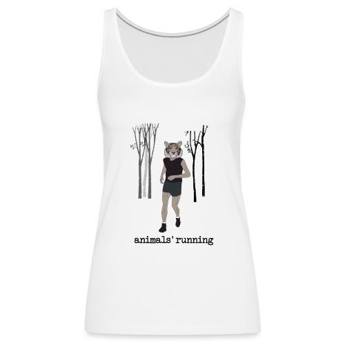 Tigre gris running - Débardeur Premium Femme
