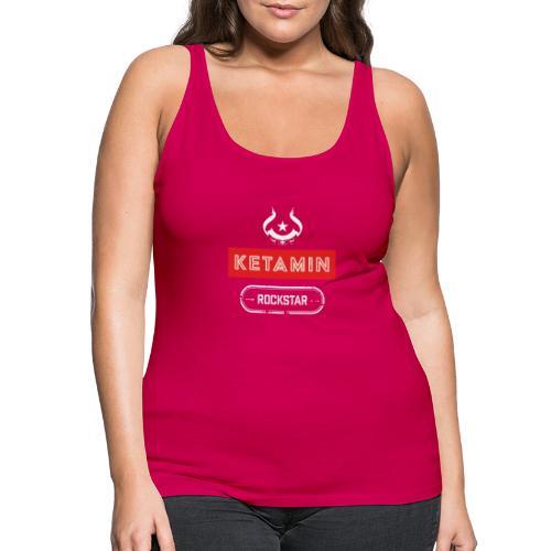 KETAMIN Rock Star - White/Red - Modern - Women's Premium Tank Top