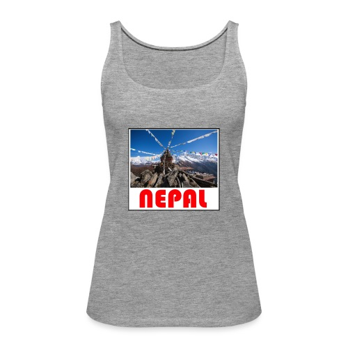 Nepal T-shirt - Women's Premium Tank Top