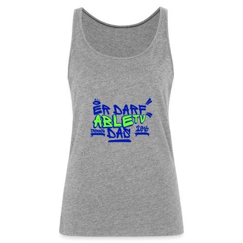 AbleTV Grafitti Logo Marken Shirt (Er Darf Das) - Frauen Premium Tank Top