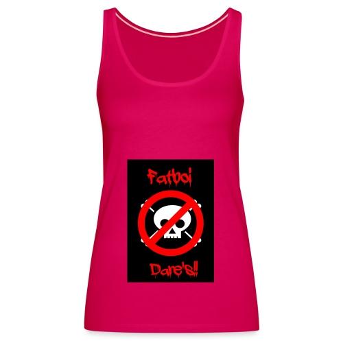 Fatboi Dares's logo - Women's Premium Tank Top