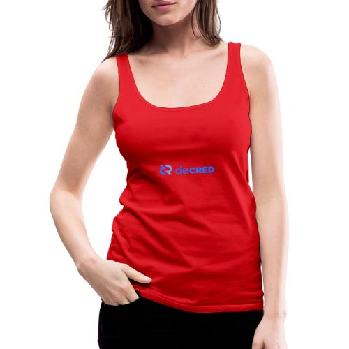 Decred logo horizontal blue - Vrouwen Premium tank top