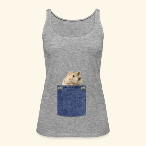 hamster in the poket - Canotta premium da donna