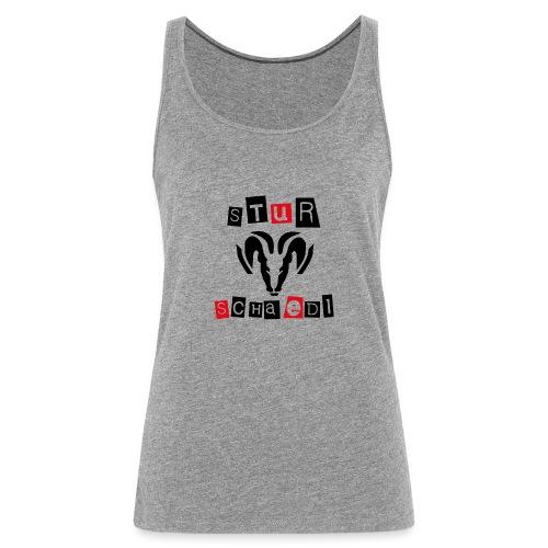 Sturschaedl Band-Logo (heller Hintergrund) - Frauen Premium Tank Top