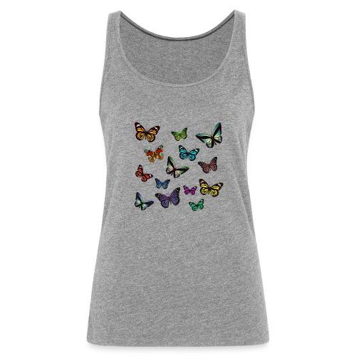 Butterflies flying - Premiumtanktopp dam