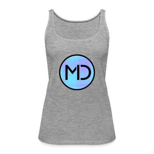 MD Blue Fibre Trans - Women's Premium Tank Top