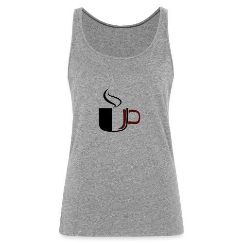JU Kahvikuppi logo - Naisten premium hihaton toppi