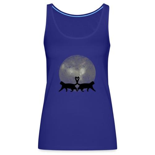 Cats in the moonlight - Vrouwen Premium tank top