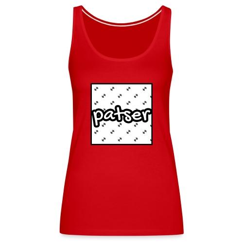 Patser - Basic Print White - Vrouwen Premium tank top