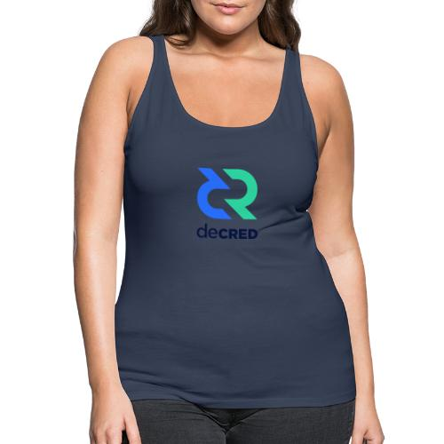 Decred logo vertical color dark - Vrouwen Premium tank top