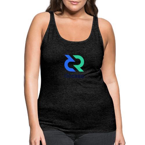 Decred logo vertical color dark - Vrouwen Premium tank top