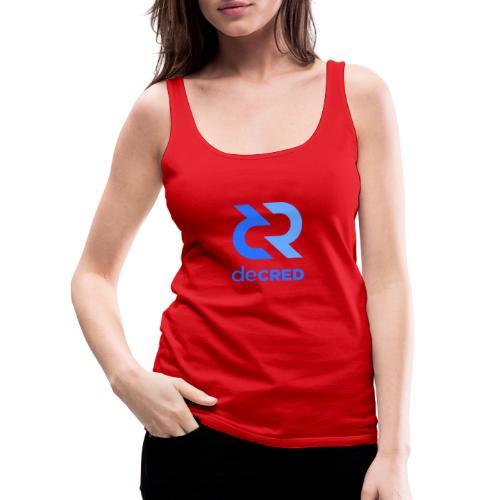Decred logo vertical blue - Vrouwen Premium tank top