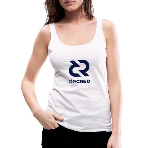 Decred logo vertical dark - Vrouwen Premium tank top