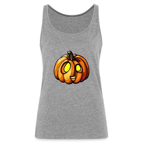 Pumpkin Halloween watercolor scribblesirii - Women's Premium Tank Top