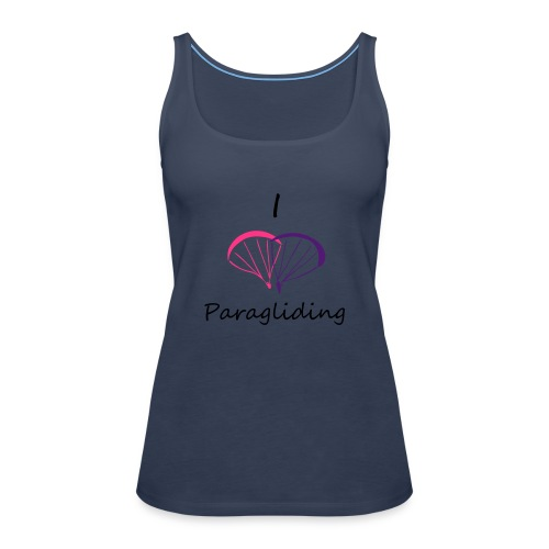 I Love Paragliding V2 - Women's Premium Tank Top