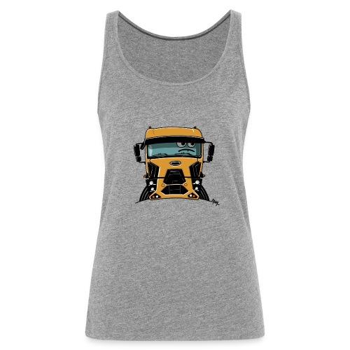 0812 F truck geel - Vrouwen Premium tank top