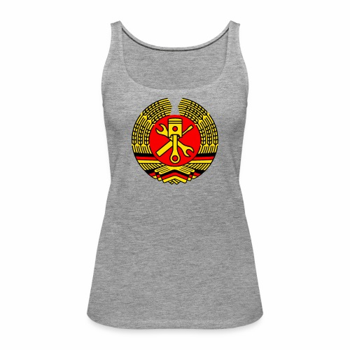DDR Tuning Coat of Arms 3c (+ Your Text) - Women's Premium Tank Top