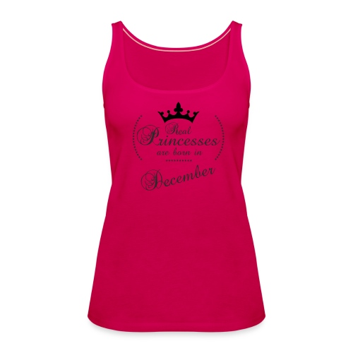 Real Princesses black December - Frauen Premium Tank Top