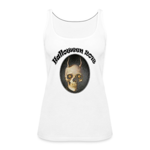Halloween 2018 Horned Devil Skull - Women's Premium Tank Top