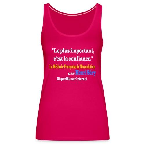 LMF Confiance v2 - Débardeur Premium Femme