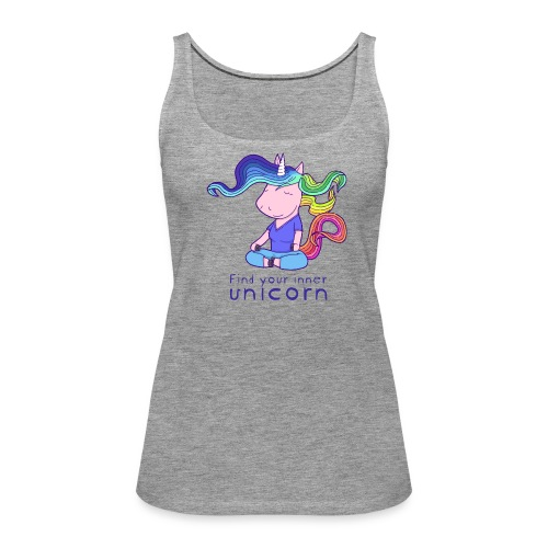 Yoga unicorn in the Lotus - Women's Premium Tank Top