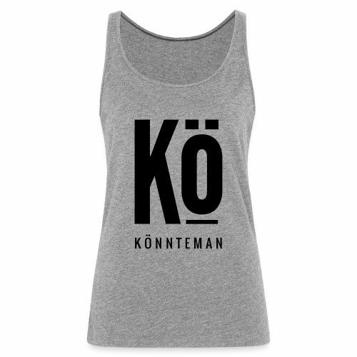 Das Kö Shirt in Schwarzem Print - Frauen Premium Tank Top