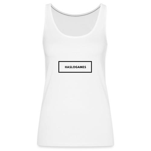 HasloGames White/Black edition! - Vrouwen Premium tank top