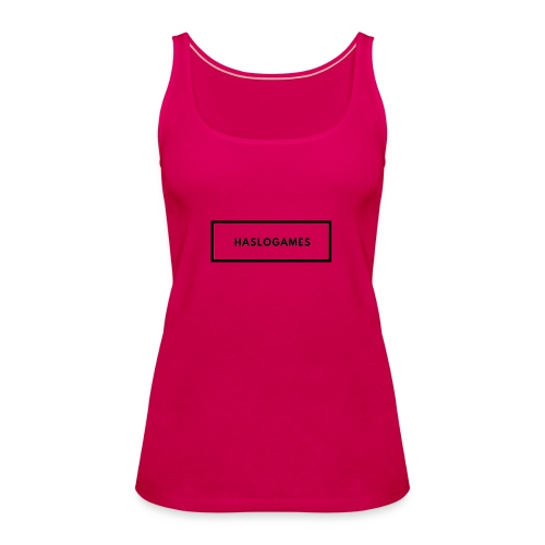 HasloGames White/Black edition! - Vrouwen Premium tank top