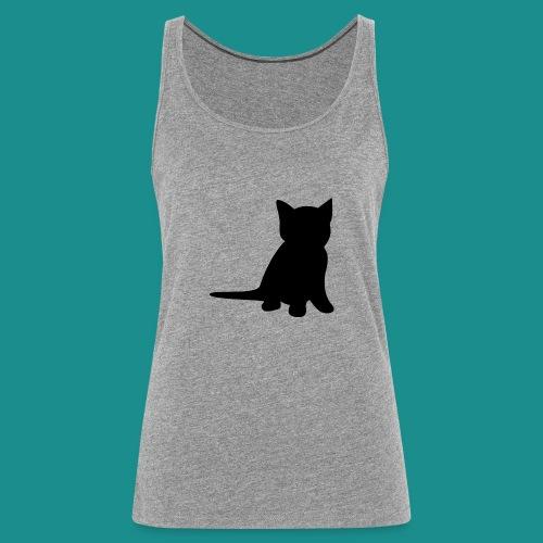Cat silhouette clean design - Women's Premium Tank Top