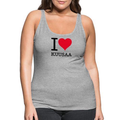 I love Kuusaa - Naisten premium hihaton toppi