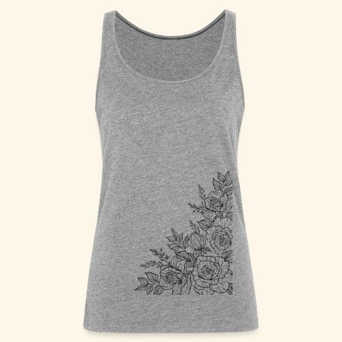 FLORES - Camiseta de tirantes premium mujer