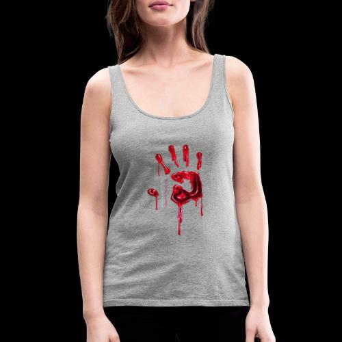 Promote Horror Blood-Soaked Hand - Women's Premium Tank Top