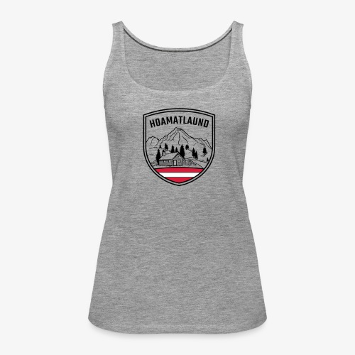 Hoamatlaund logo - Frauen Premium Tank Top