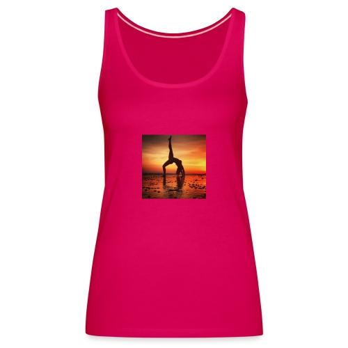 pet yoga - Vrouwen Premium tank top