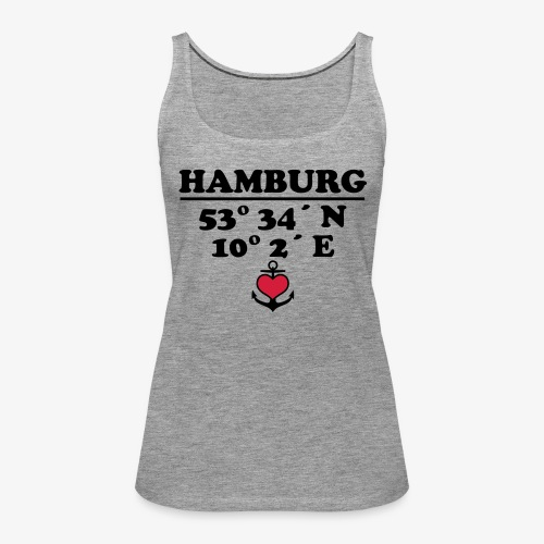HAMBURG Koordinaten Anker 2c A / Längengrad - Frauen Premium Tank Top