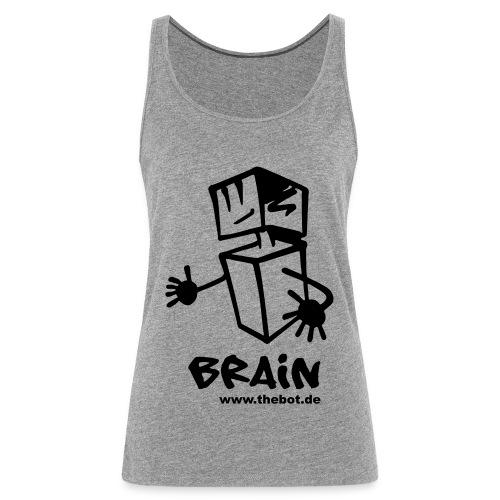 brain_logo_tshirt - Frauen Premium Tank Top