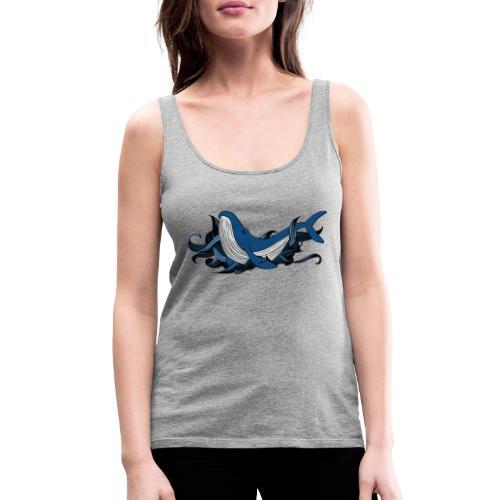 Doodle ink Whale - Canotta premium da donna